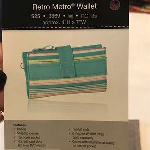 """thirty-one Bags - 3 for $10!! Retro Metro Wallet """"Say It Taupe"""""""